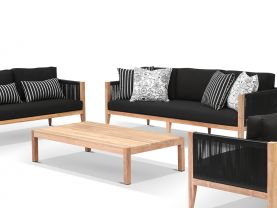Oslo 4pc Teak Outdoor Lounge Setting