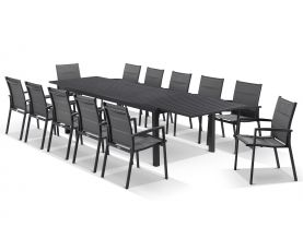 Hague Extension Table with Lucerne Armless Chairs -11pc