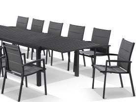 Hague Extension table with Latina Chairs  - 13pc Outdoor Dining Setting