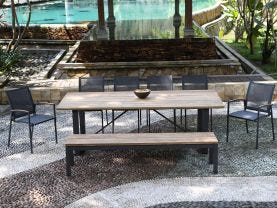 Laguna 240 Table with Pacific Chairs -9 Seater Outdoor Dining Setting
