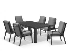 Adele table with Mikado Chairs 7pc Outdoor Dining Setting