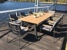 Buru 9pc Outdoor Dining Setting