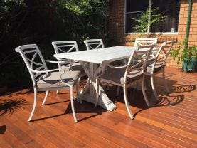 Vogue  table with Picasso  Chairs  - 7pc Outdoor Setting