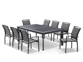 Barton Extension Table with Verde  Chairs -  13pc Outdoor Dining Setting