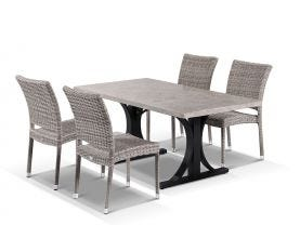Luna 165 with Lucerne Dining Chairs 5pc