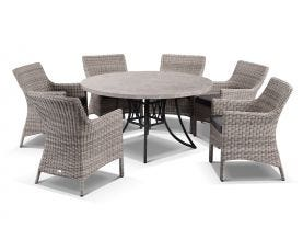 Luna with Maldives 7pc Dining Setting