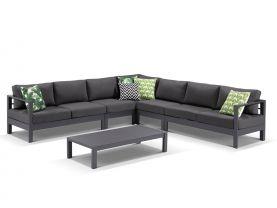 Amalfi 7 Seater -Aluminium Lounge Setting