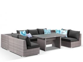 Como 7 Seater Low Dining U Shape Lounge