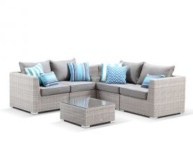 Maldives Outdoor Lounge 6pc -Elk / Sunbrella Carbon Beige