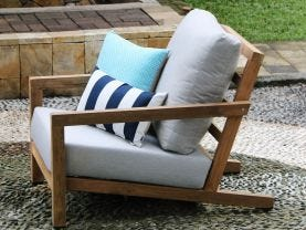 Venlo 4pc Teak Outdoor Lounge Setting