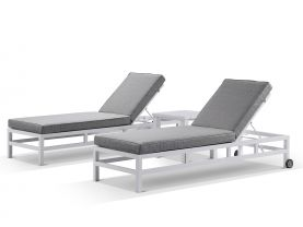 Provence 3pc Sunlounger Set with Adele Side Table