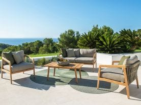 Ritz 4pc Teak Outdoor Lounge Setting
