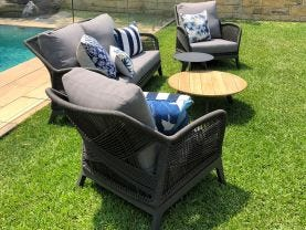 Serang 4pc Outdoor Rope Lounge Setting