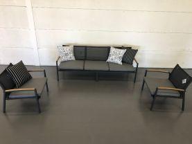 FLOOR MODEL - Pacific Arm 3pc Teak Outdoor Lounge Setting