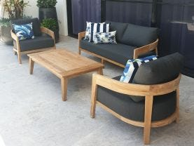 Ubud 4pc Teak Outdoor Lounge Setting