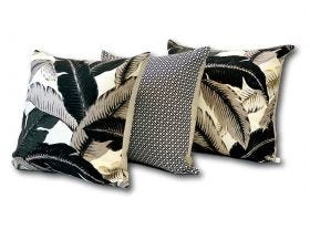 Aloha Palm & Diamond Outdoor Cushions 3 Pack