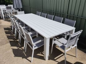 Capri 330cm Table with Latina Chairs 13pc Outdoor Setting
