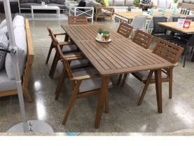 Valley 9pc Outdoor Dining Setting