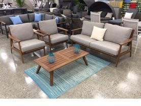 Valley 4pc Outdoor Lounge Setting