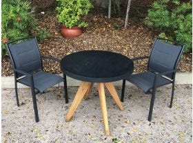 FLOOR MODEL -Ceara Table with Verde Chairs 3pc Balcony Set