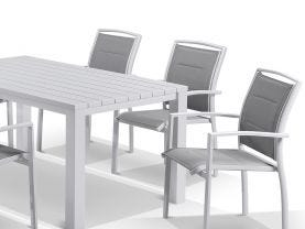 Adele table with Verde chairs  7pc Outdoor Dining Setting