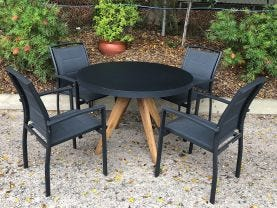 FLOOR MODEL -Ceara Table with Verde Chairs 5pc Dining Set
