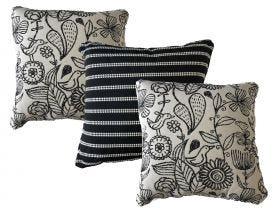 Sunbrella Waikki & Barbados Outdoor Cushions 3 Pack