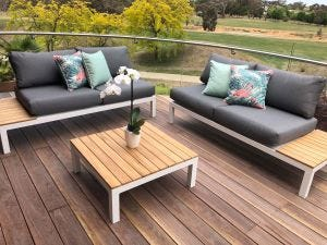 Corfu 4 Seater Outdoor Lounge