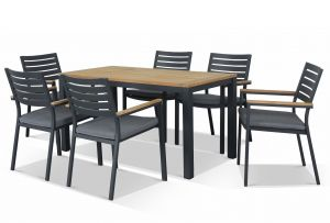 Corfu & Astra  Outdoor Dining Setting 7pc