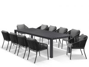 Adele Table With Java Chairs 11pc Outdoor Dining Setting