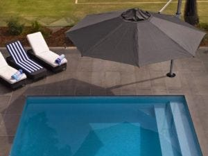 Aurora 3.5m Octagonal Umbrella -Smoked Tweed