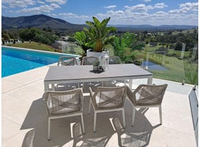 Danli Ceramic Table with Serang Dining Chairs 7pc Outdoor Dining Setting