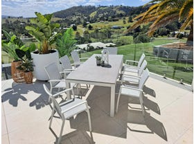 Danli Ceramic Table with Sevilla Dining Chairs 9pc Outdoor Dining Setting