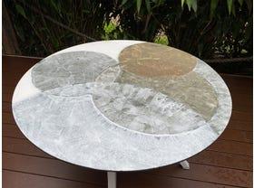 Domiziani Forma Lava Stone 120cm Round Dining Table