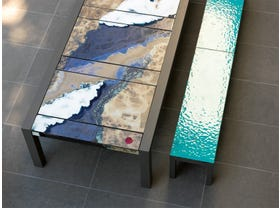 Domiziani Brando Rock Lava Stone 300x110 Dining Table