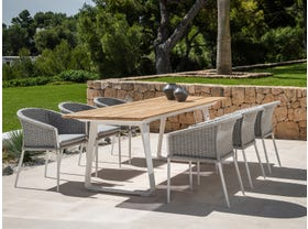 Elko Table with Isla Chairs 7pc Outdoor Dining Setting