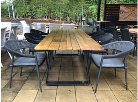FLOOR MODEL -Elko Table with Nivala Chairs 7pc Outdoor Dining Setting