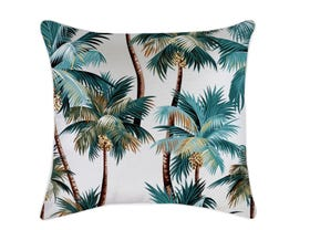 Palm Trees White Outdoor Cushion -60 x 60cm