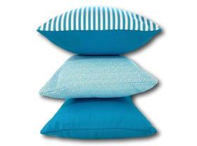 Feelgood Sanctuary Aqua Outdoor Cushion 3 Pack