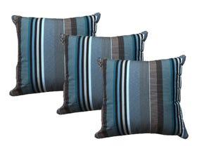 Sunbrella Figari Peacock Outdoor Cushions 3 Pack