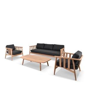 Float 4pc Teak Outdoor Lounge Setting