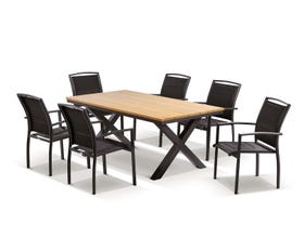 Fox Table with Verde Chairs 7pc Outdoor Dining Setting