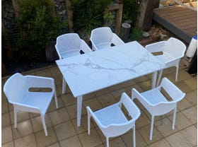 Franklin Table with Bailey Chairs 7pc- NSW ONLY