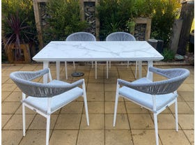 Franklin Table with Nivala Chairs 5pc- NSW ONLY