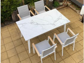 Franklin Table with Triana Chairs 5pc- NSW ONLY