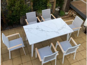 Franklin Table with Triana Chairs 7pc- NSW ONLY