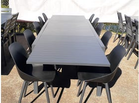FLOOR MODEL - Hague Extension Table with Galati Chairs 11pc Outdoor Dining Setting