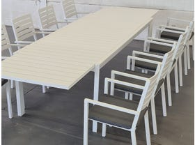 Hague Extension Table with Mayfair Chairs 11pc Outdoor Setting -SYD ONLY