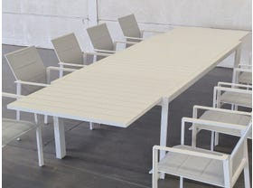 Hague Extension Table with Meribel  Chairs 11pc Outdoor Setting -SYD ONLY