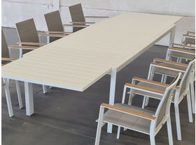 Hague Extension Table with Triana Chairs 11pc Outdoor Setting -SYD ONLY